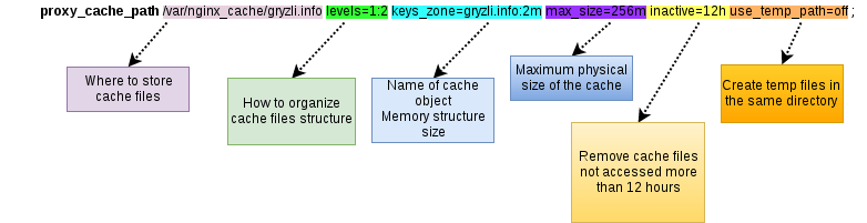 How nginx proxy_cache_path works