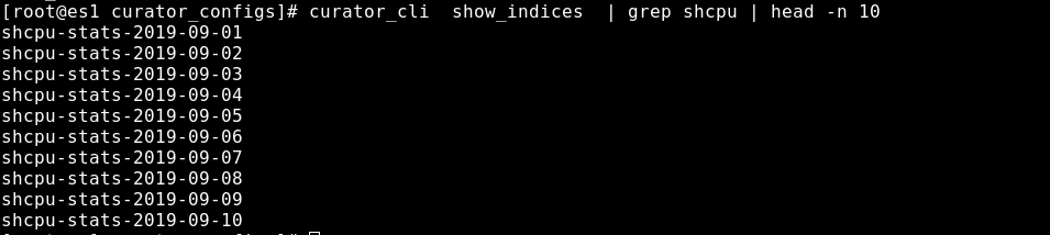 Using curator_cli to list elasticsearch indices